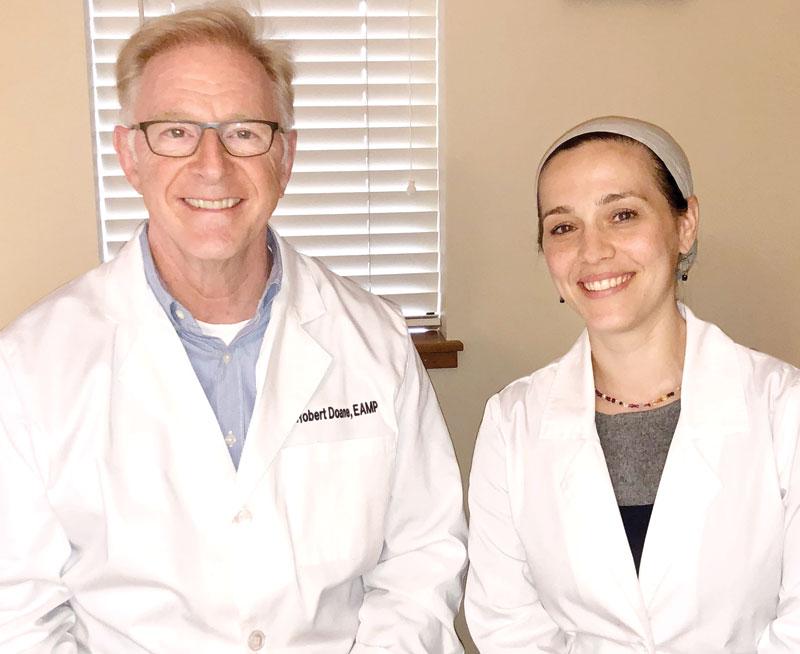 Miriam Pineles with Dr. Bob Duane