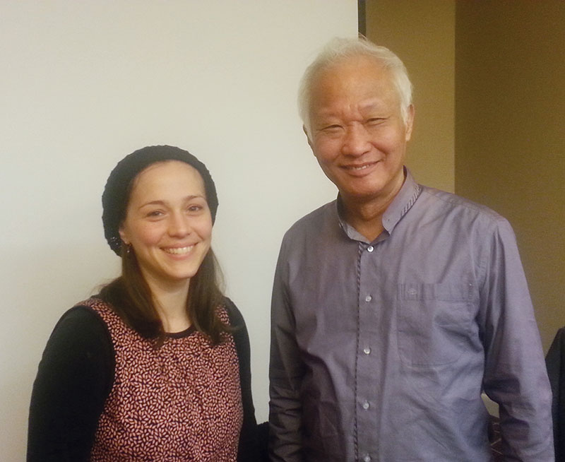 Miriam Pineles with Dr. Tan